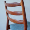 Close up of backrest of Arne Vodder Cado dining chair 191 at an angle