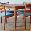 Arne Vodder Cado dining chairs 191 with matching table