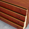 4 drawers teak dresser with drawers opened