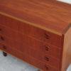 Top view of 4 drawers teak dresser