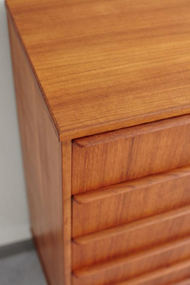 Corner of Danish 6 drawer dresser