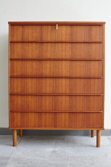 Danish 6 drawer dresser