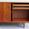 Danish sideboard with right door opened close up
