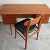 Danish teak desk and chair