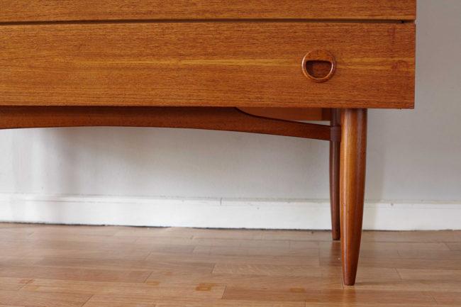 Legs and drawer of Teak Danish dresser
