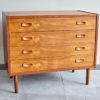 Danish dresser with drawers at an angle