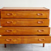 Danish dresser with drawers open