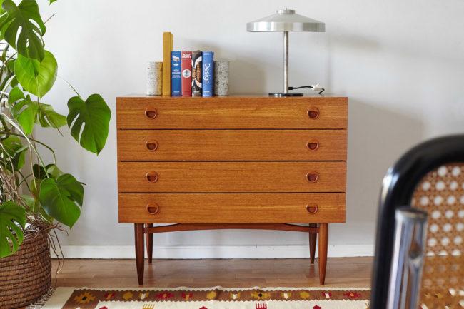 Danish dresser in a room