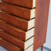 Danish teak chest of drawers with drawers opened
