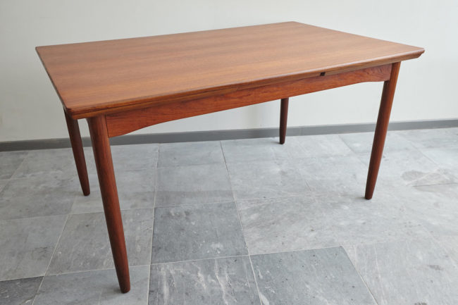 Danish teak dining table from above