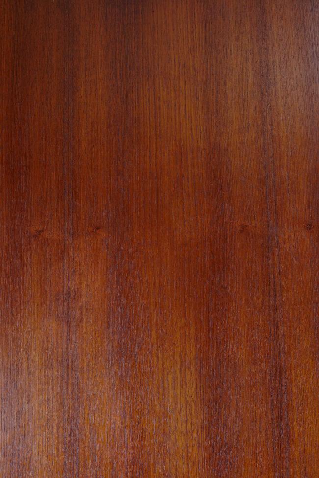 Wood close up of Dyrlund teak coffee table