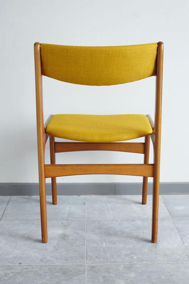Back of Danish teak dining chair