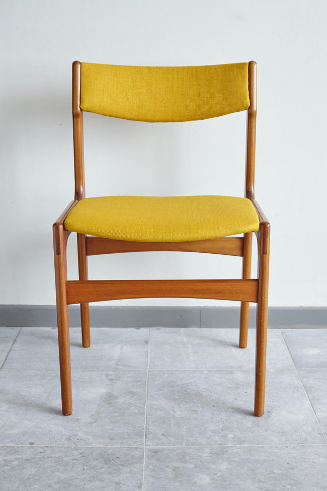 Front of Back of Danish teak dining chair