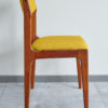 Side of Back of Danish teak dining chair