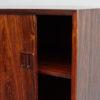 Right door of Hjornebo Mobelfabrik rosewood cabinet opened