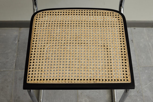 Seat of Close up of backrest of Italian wicker chair