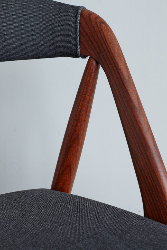 Details of back rest of Kai Kristiansen Model 31 Dining Chairs