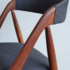 Details of frame and back rest of Kai Kristiansen Model 31 Dining Chair