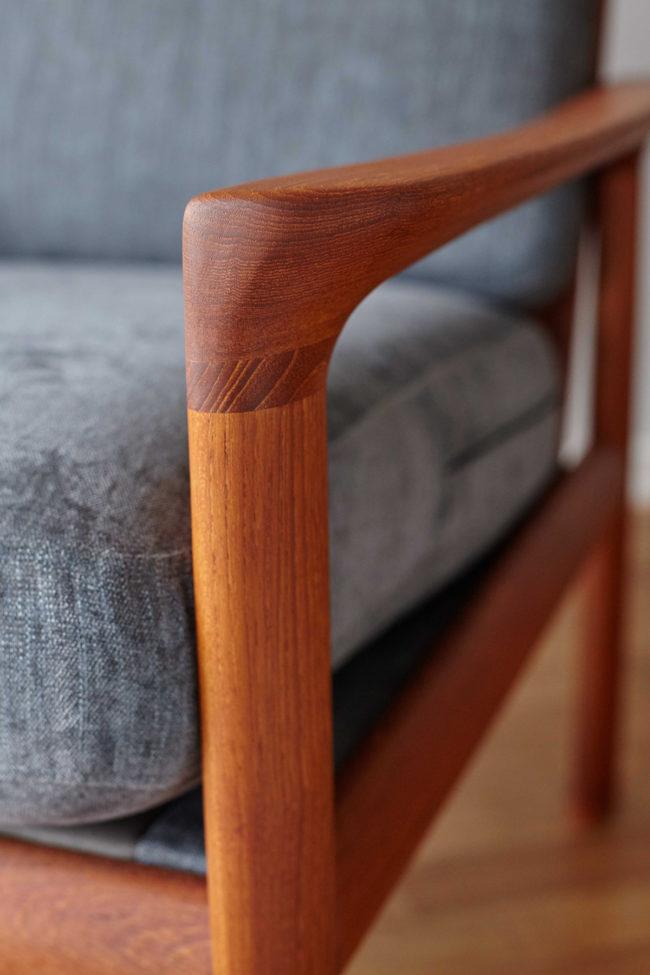 Armrest of the Komfort chair