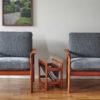 Mid-century Scandinavian furniture in a living room