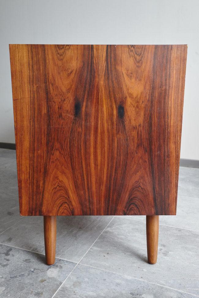 Left side of Danish rosewood low sideboard