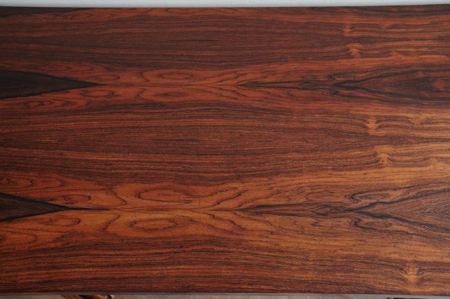 Woodgrain of Danish rosewood low sideboard