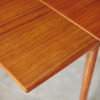 Left extension of Compact teak dining table