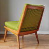 Back of Soloform green Boomerang chair