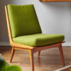 Soloform green Boomerang chair in a room