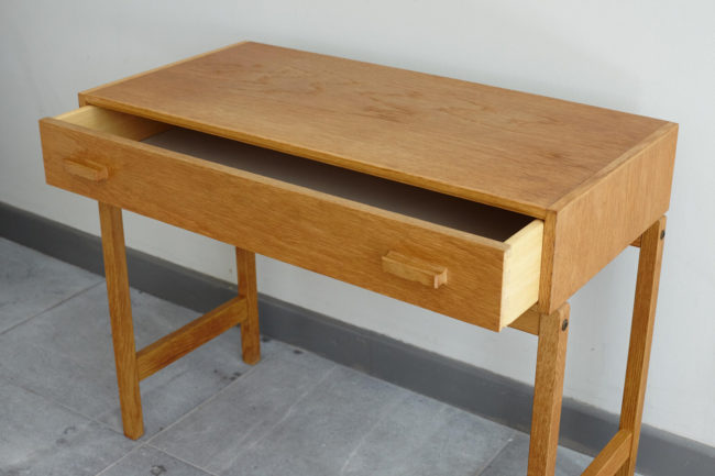 Swedish oak dresser with drawer opened