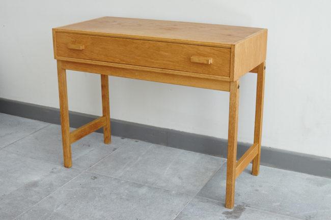 Swedish oak dresser at an angle
