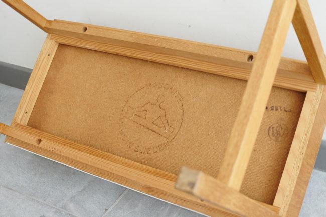 Stamp under Swedish oak dresser