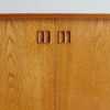 Door handles details of Danish oak sideboard