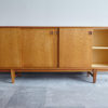 Danish oak sideboard with right door opened