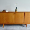 Danish oak sideboard with objects